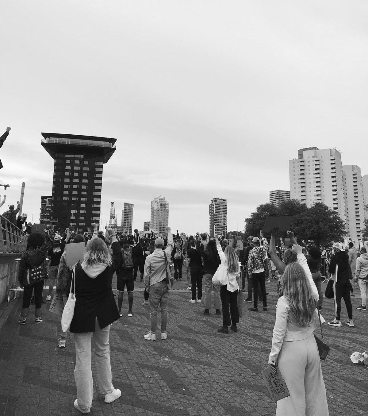 protest racisme rotterdam